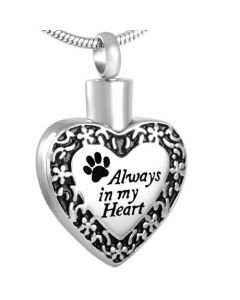 Always in my Heart Pet - Stainless Steel Ashes Jewellery Pet Pendant
