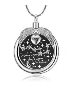 A Piece of my Heart 'Dad' - Stainless Steel Cremation Ashes Urn Jewellery Pendant