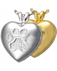 A Touch of Your Paw - Cremation Ashes Memorial Pendant
