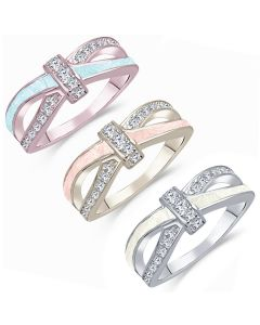 LifeStone™ Ladies Bow Ribbon Cremation Ashes Ring