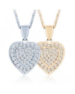 Dainty Heart Cremation Ashes Memorial Pendant