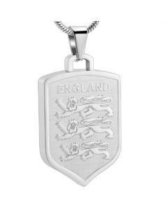 England Football Badge - Stainless Steel Cremation Ashes Jewellery Pendant