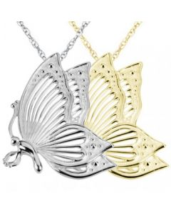 Fly High Butterfly Cremation Ashes Memorial Pendant