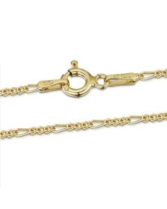Premium Gold Plated Figaro Chain