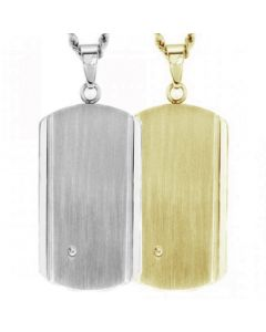 Handsome Dog Tag Cremation Ashes Memorial Pendant