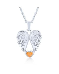 LifeStone™ Heart Wings Cremation Ashes Pendant-Amber