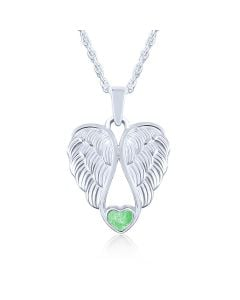 LifeStone™ Heart Wings Cremation Ashes Pendant-Apple