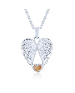 LifeStone™ Heart Wings Cremation Ashes Pendant-Copper