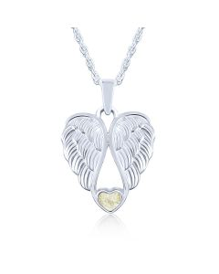 LifeStone™ Heart Wings Cremation Ashes Pendant-Natural
