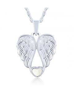 LifeStone™ Heart Wings Cremation Ashes Pendant