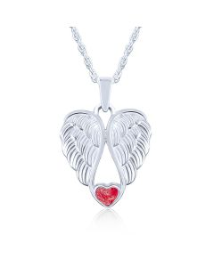 LifeStone™ Heart Wings Cremation Ashes Pendant-Rose