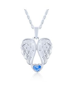 LifeStone™ Heart Wings Cremation Ashes Pendant-Sapphire