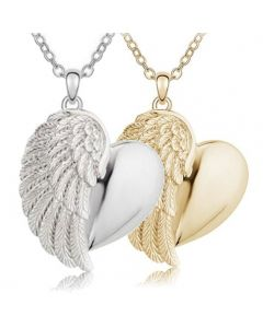 Heavenly Heart Cremation Ashes Memorial Pendant