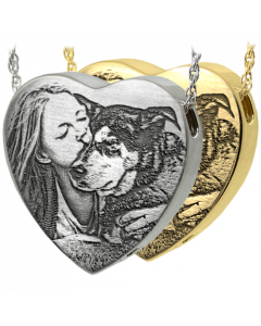 3D Photo Laser Engraved Peaceful Heart
