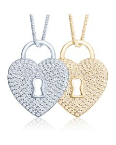 Locked in Love Cremation Ashes Memorial Pendant