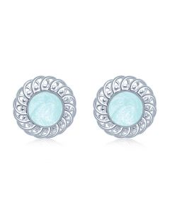 LifeStone™ Ladies Forever Round Cremation Ashes Earrings