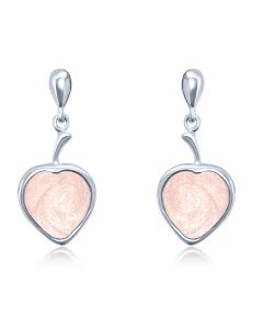 LifeStone™ Ladies Droplet Heart Cremation Ashes Earrings