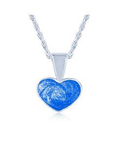 LifeStone™ Ladies Heart Cremation Ashes Pendant-Sapphire