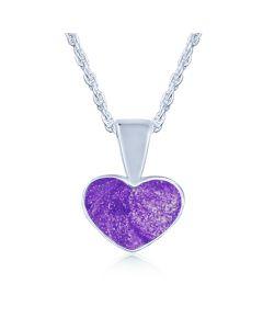 LifeStone™ Ladies Heart Cremation Ashes Pendant-Violet