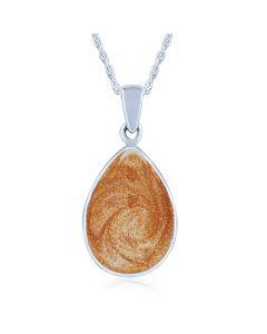 LifeStone™ Perfect Teardrop Cremation Ashes Pendant-Copper