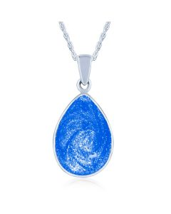LifeStone™ Perfect Teardrop Cremation Ashes Pendant-Sapphire