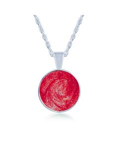 LifeStone™ Perfect Circle Cremation Ashes Pendant-Rose