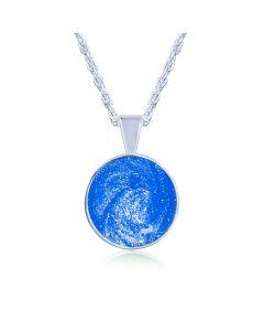 LifeStone™ Perfect Circle Cremation Ashes Pendant-Sapphire