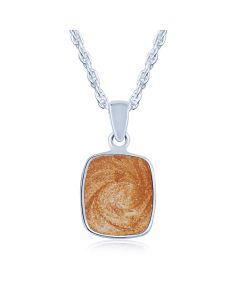 LifeStone™ Perfect Rectactangle Cremation Ashes Pendant-Copper