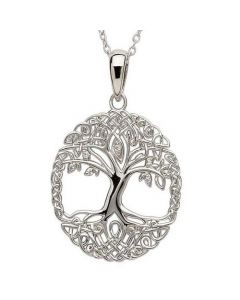 Mulberry Tree Sterling Silver Cremation Ashes Memorial Pendant