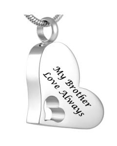 My Brother - Stainless Steel Cremation Ashes Jewellery Pendant