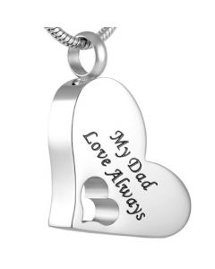 My Dad - Stainless Steel Cremation Ashes Jewellery Pendant