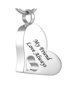 My Friend - Stainless Steel Cremation Ashes Jewellery Pendant