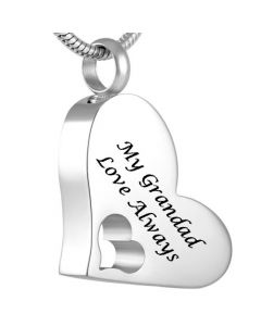 My Grandad - Stainless Steel Cremation Ashes Jewellery Pendant
