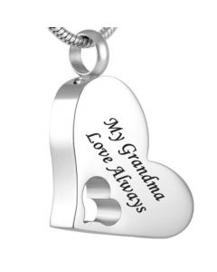 My Grandma - Stainless Steel Cremation Ashes Jewellery Pendant