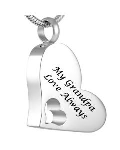 My Grandpa - Stainless Steel Cremation Ashes Jewellery Pendant