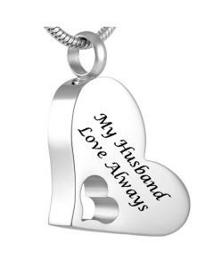 My Husband - Stainless Steel Cremation Ashes Jewellery Pendant