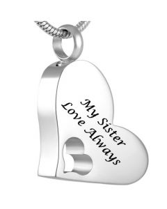 My Sister - Stainless Steel Cremation Ashes Jewellery Pendant