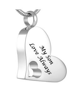 My Son - Stainless Steel Cremation Ashes Jewellery Pendant