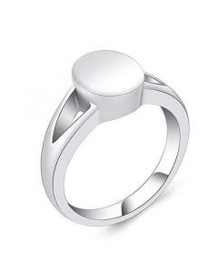 Oval Ring - Stainless Steel Cremation Ashes Jewellery Urn Memorial Keepsake
