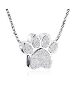 Paw Charm - Stainless Steel Pet Cremation Ashes Memorial Pendant