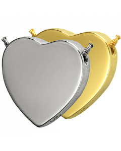 Peaceful Heart - Cremation Ashes Memorial Pendant