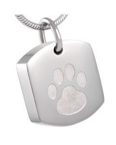 Paw Dog Tag - Stainless Steel Pet Cremation Ashes Jewellery Pendant