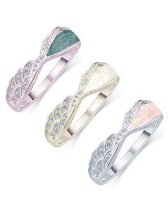 LifeStone™ Ladies Precious Wing Cremation Ashes Ring
