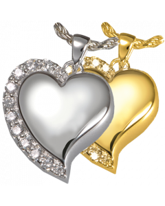 Shining Star Heart - Cremation Ashes Memorial Pendant