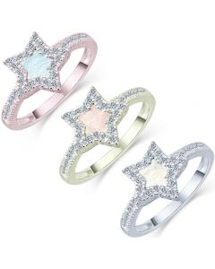 LifeStone™ Ladies The Brightest Star Cremation Ashes Ring