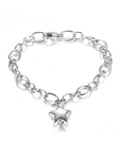 Star Charm Bracelet - Stainless Steel Cremation Ashes Bracelet