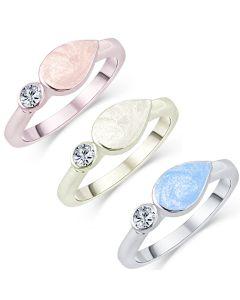 LifeStone™ Ladies Teardrop Cremation Ashes Ring