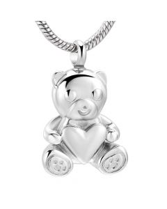 Teddy Bear - Stainless Steel Ashes Jewellery Necklace Pendant