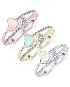 LifeStone™ Ladies Together Hearts Cremation Ashes Ring
