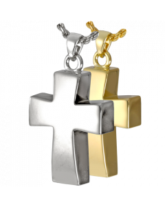 Vaulted Cross - Cremation Ashes Memorial Pendant